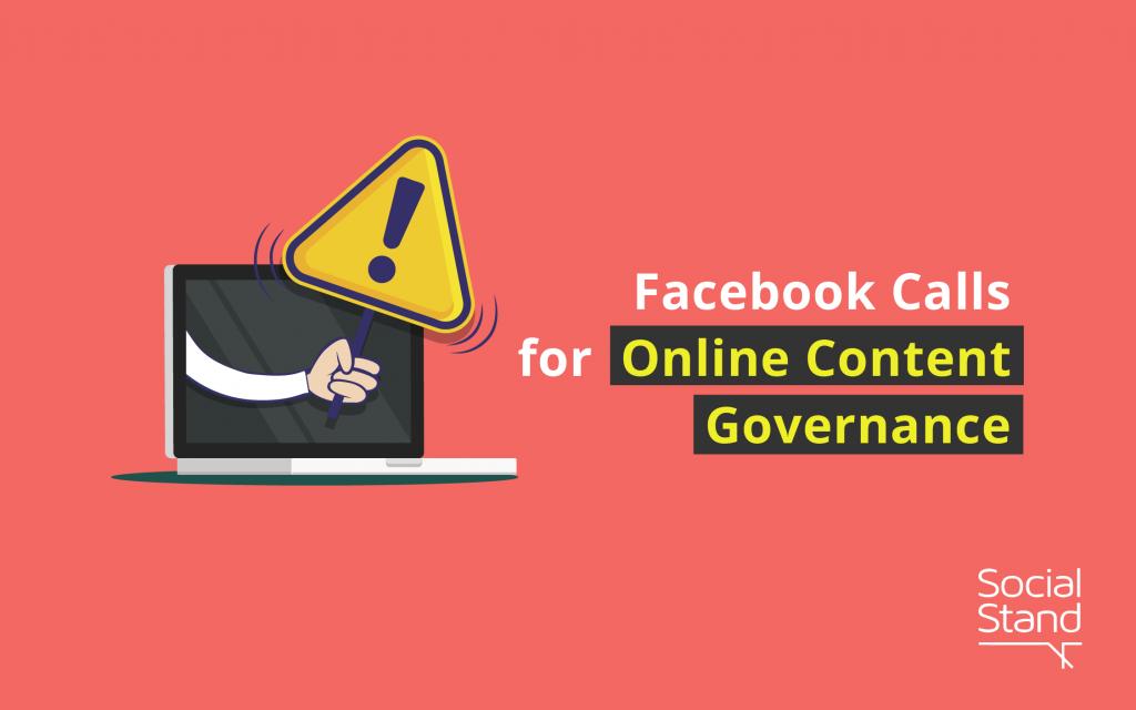 Facebook Calls for Online Content Governance