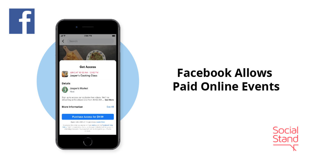 Facebook Allows Paid Online Events