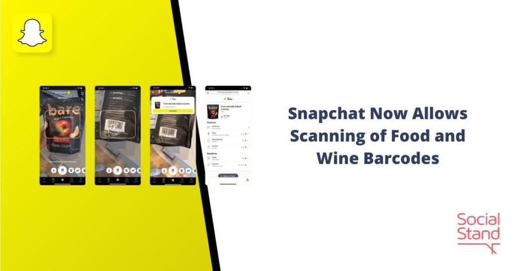 Snapchat Now Allows Scanning of Food and Wine Barcodes