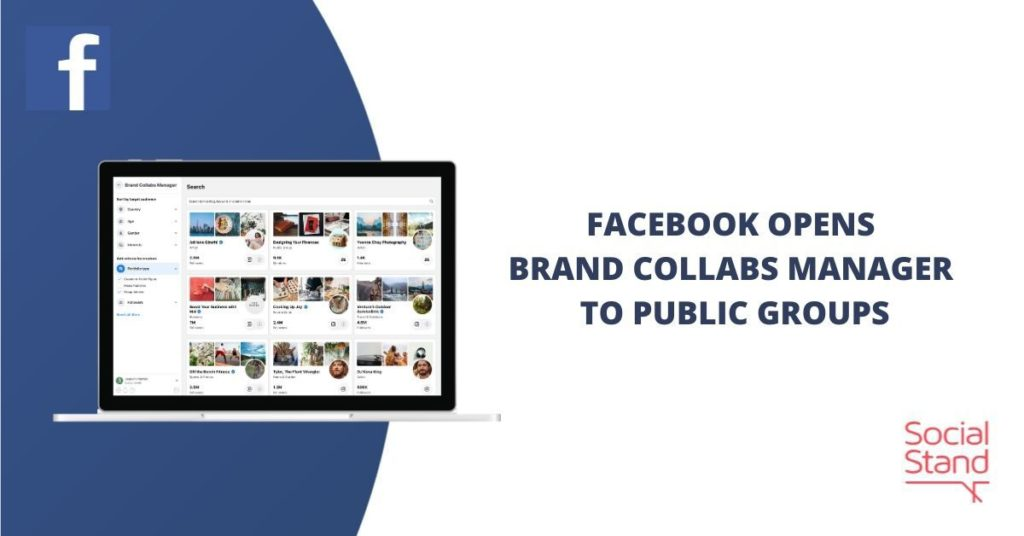 Facebook Opens Brand Collabs Manager to Public Groups