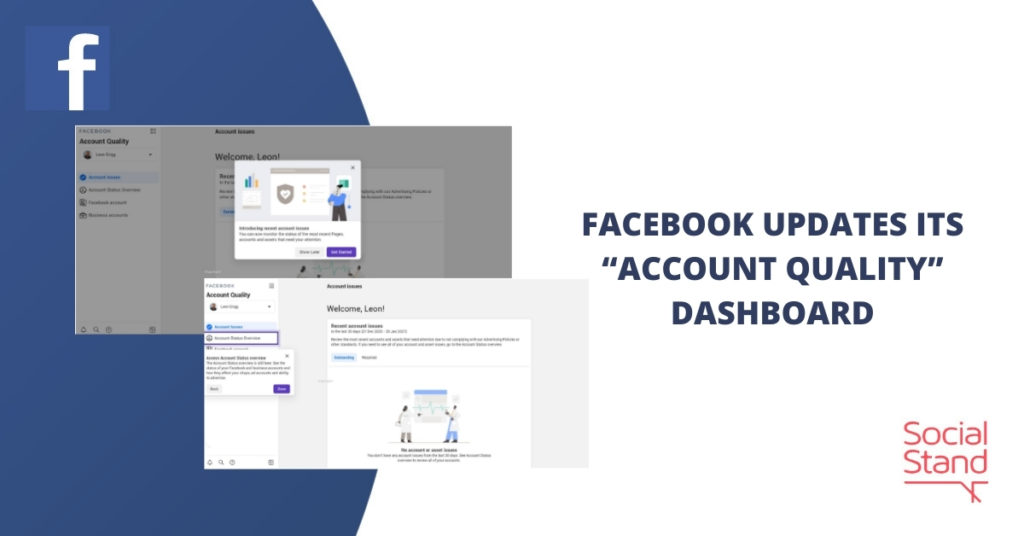 """Facebook Updates Its """"Account Quality"""" Dashboard"""