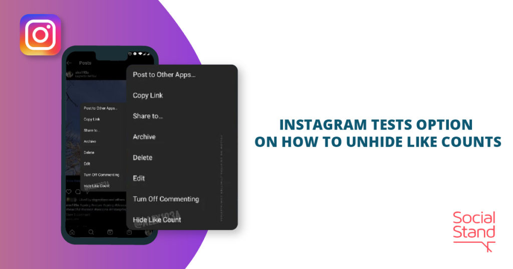 Instagram Tests Option on How to Unhide Like Counts