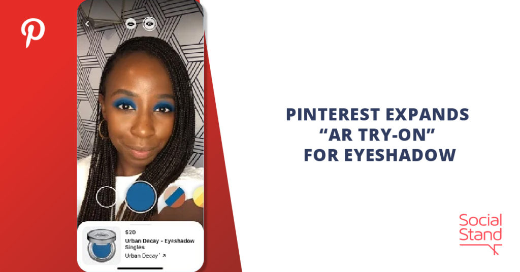 """Pinterest Expands """"AR Try-On"""" for Eyeshadow"""