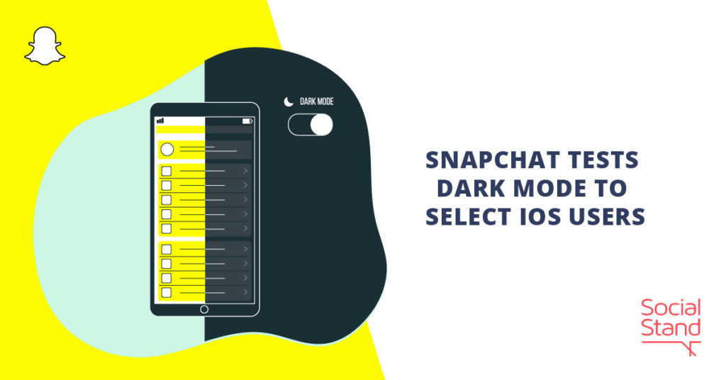 Snapchat Tests Dark Mode to Select iOS Users