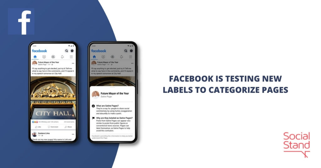 Facebook is Testing New Labels to Categorize Pages