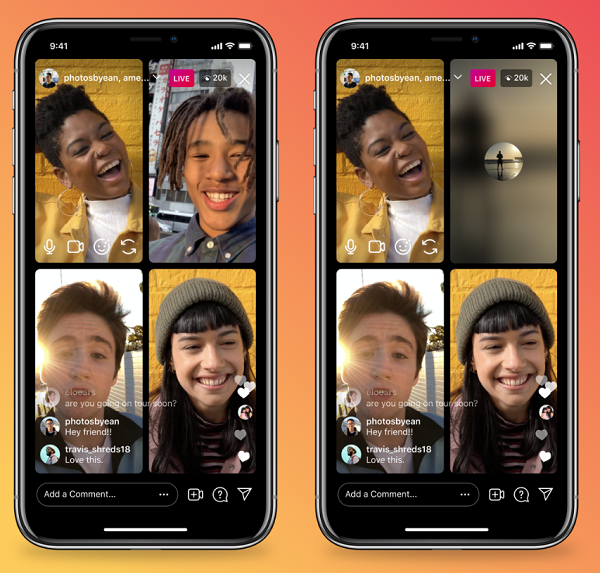 Instagram Live Broadcast Now Allows Turning Off Audio and Video