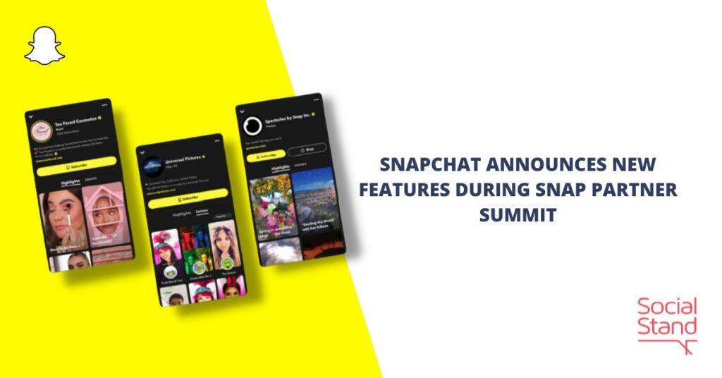 Snapchat Announces New Features During Snap Partner Summit