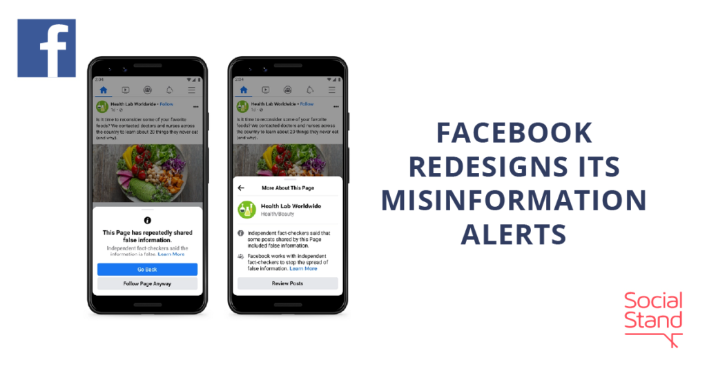 Facebook Redesigns Its Misinformation Alerts