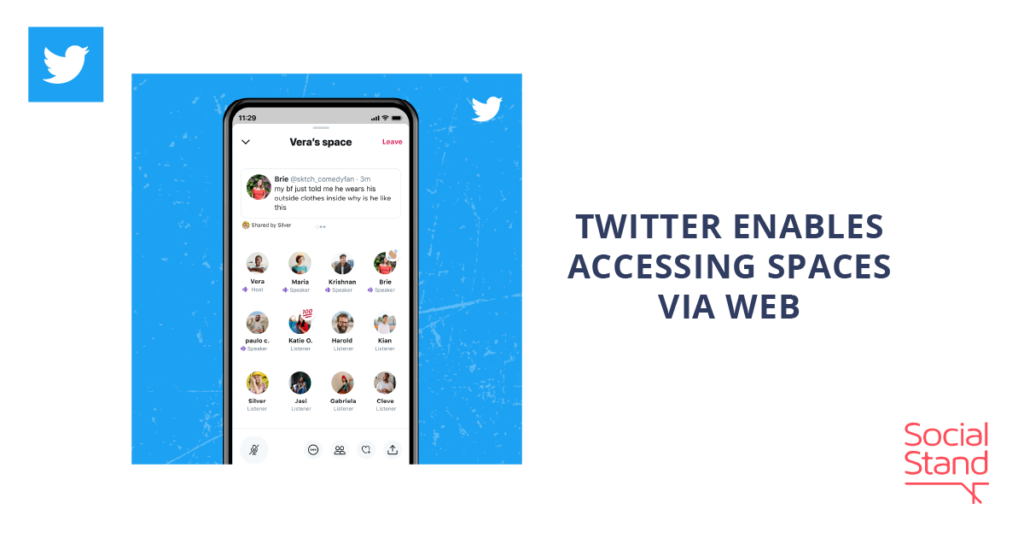 Twitter Enables Accessing Spaces via Web