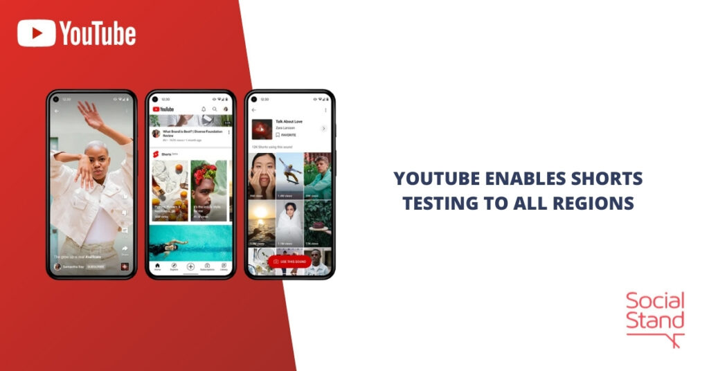 YouTube Enables Shorts Testing to All Regions