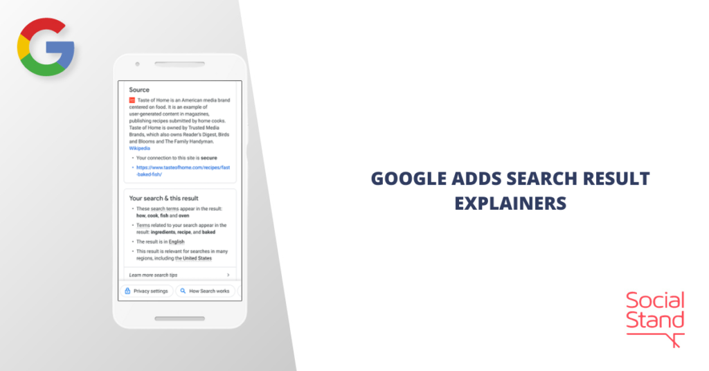 Google Adds Search Result Explainers