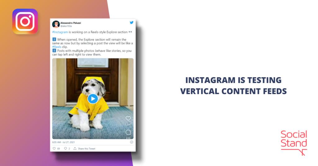 Instagram is Testing Vertical Content Feeds
