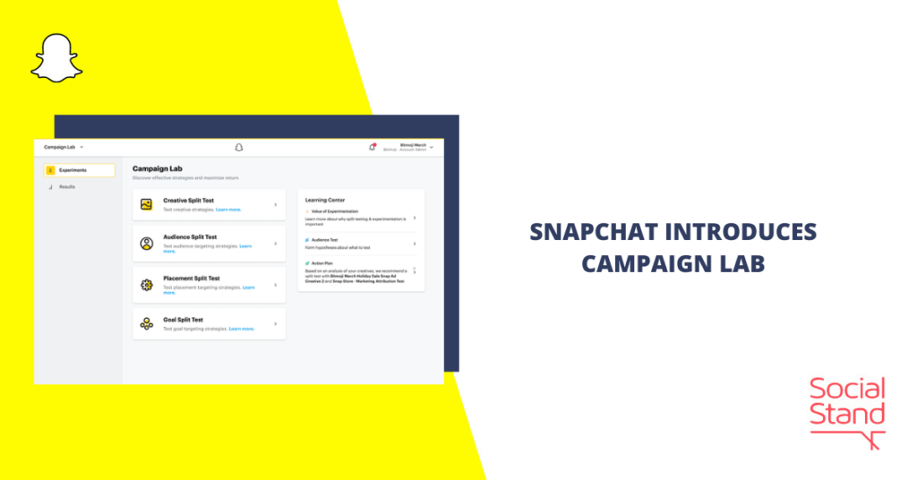 Snapchat Introduces Campaign Lab