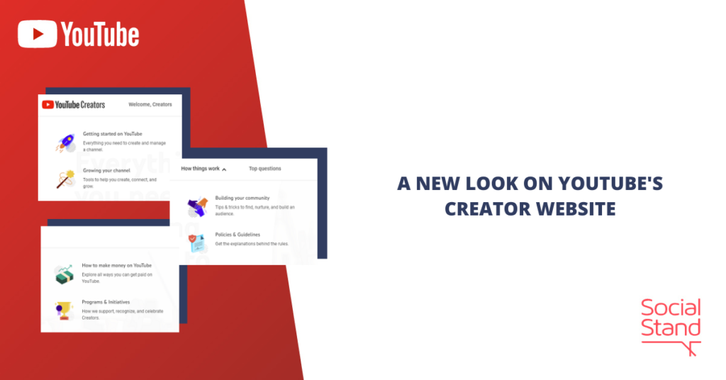 A New Look on YouTube's Creator Website