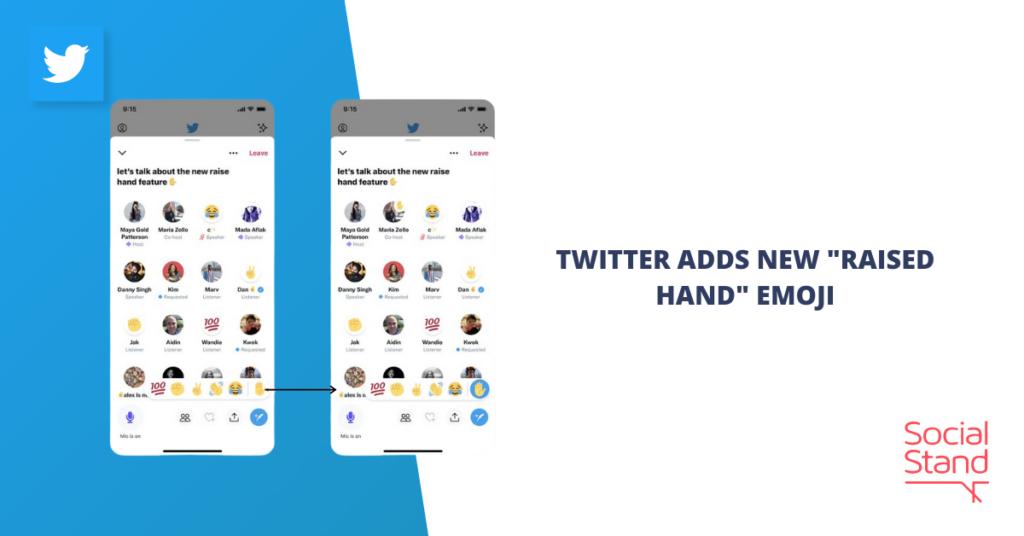 Twitter Adds New Raised Hand Emoji