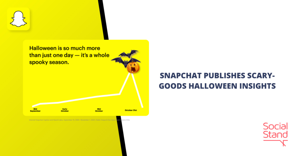 Snapchat Publishes Scary Goods Halloween Insights