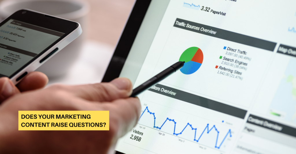 Does Your Marketing Content Raise Questions?