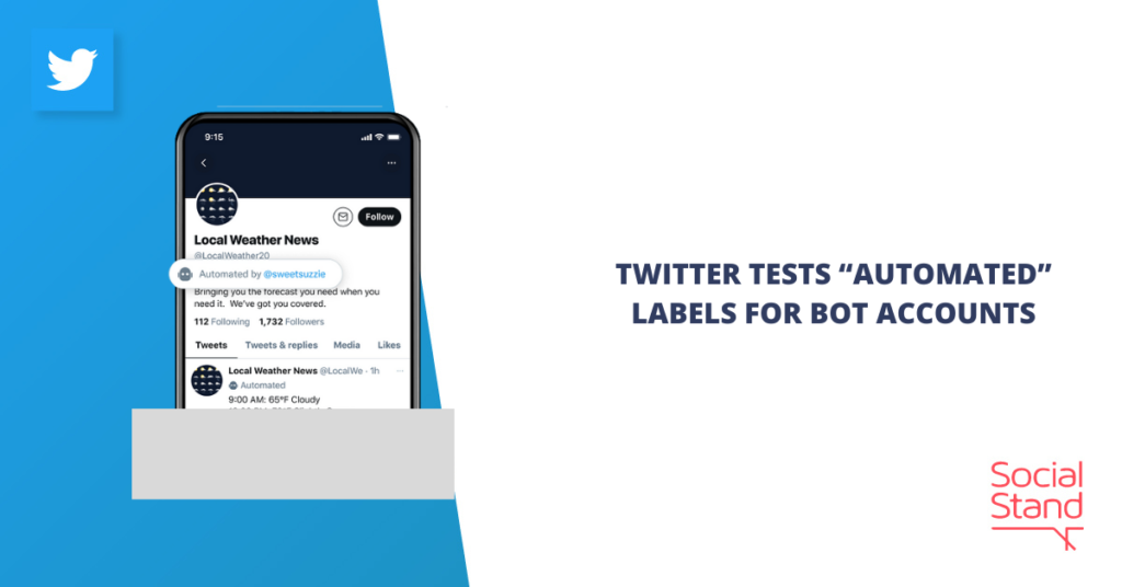 """Twitter Tests """"Automated"""" Labels for Bot Accounts"""