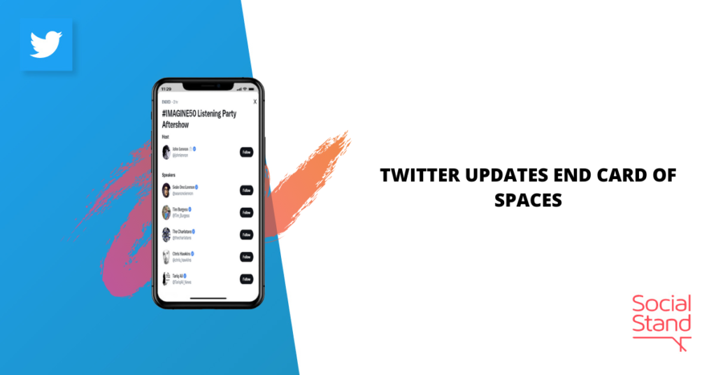 Twitter Updates End Card of Spaces