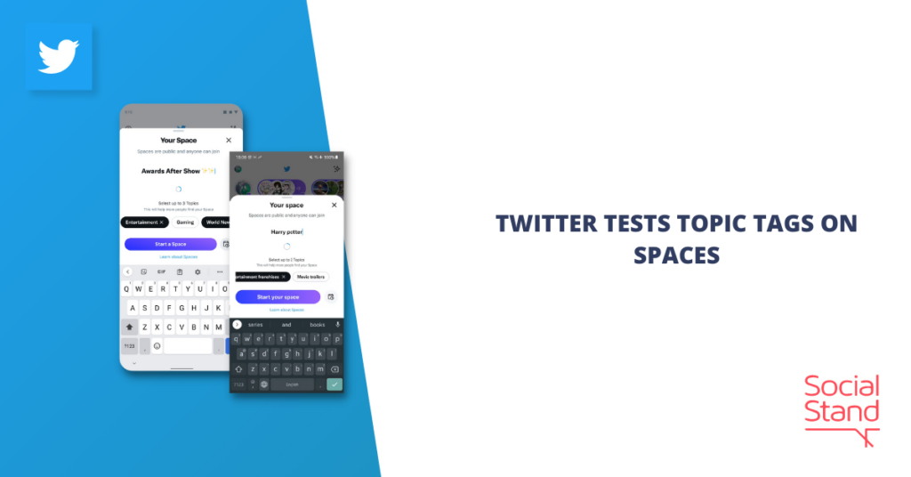 Twitter Tests Topic Tags on Spaces