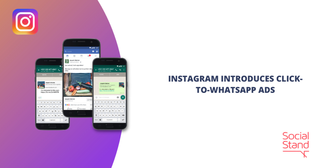 Instagram Introduces Click-to-WhatsApp Ads