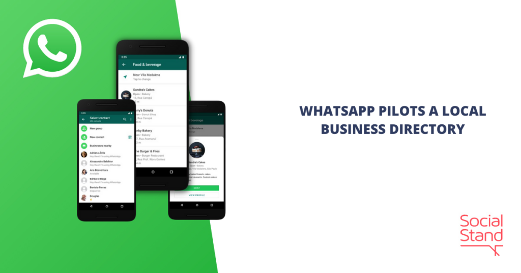 WhatsApp Pilots a Local Business Directory