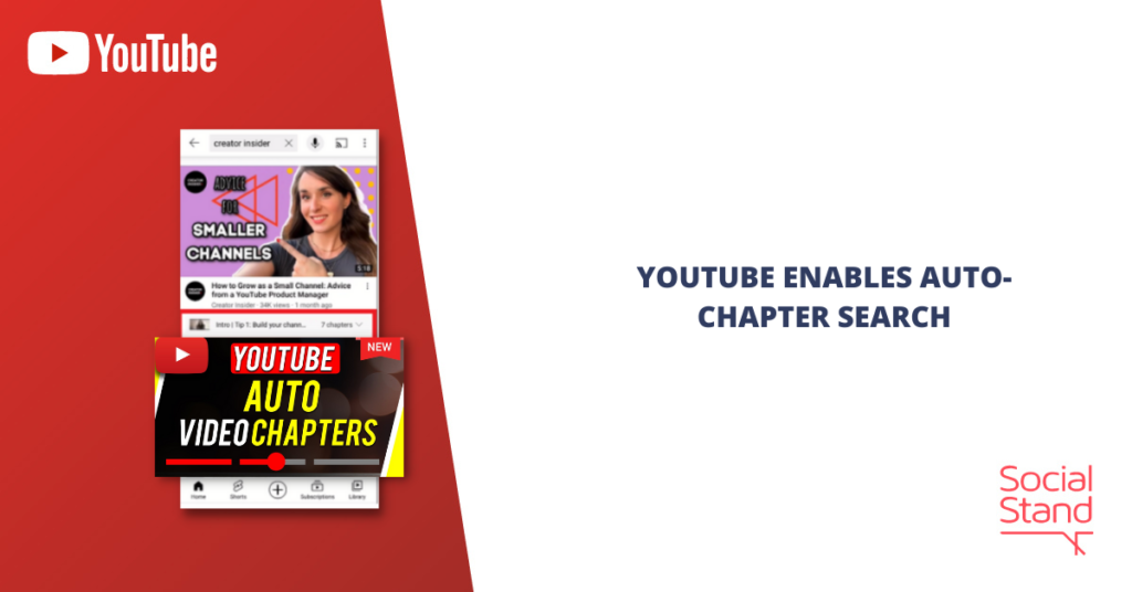 YouTube Enables Auto-Chapter Search