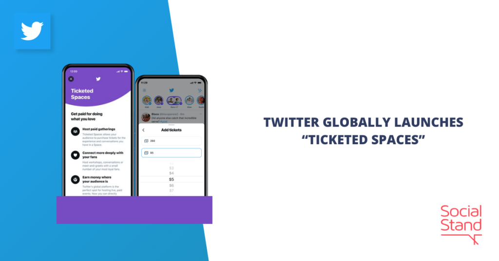 """Twitter Globally Launches """"Ticketed Spaces"""""""