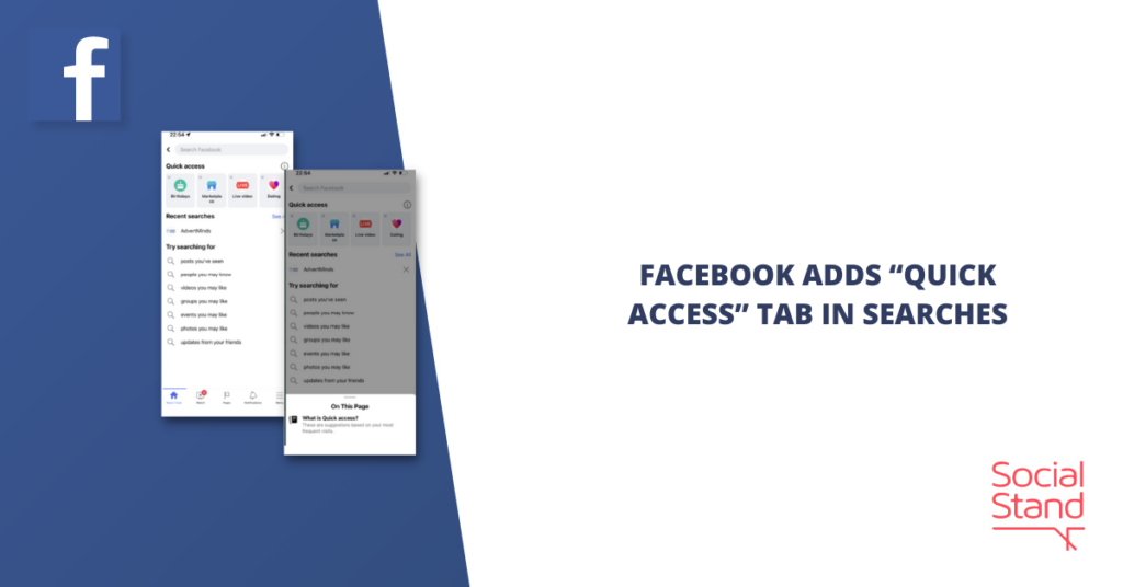 """Facebook Adds """"Quick Access"""" Tab in Searches"""