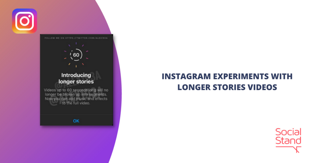Instagram Experiments with Longer Stories Videos